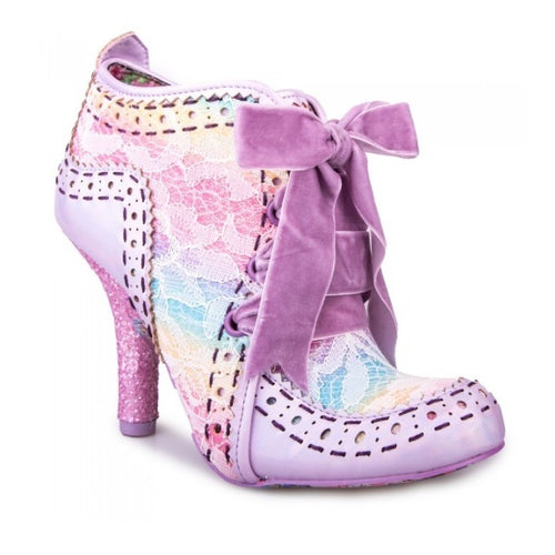 Irregular Choice Abigail's Party Shoes - Pink Pastel Rainbow