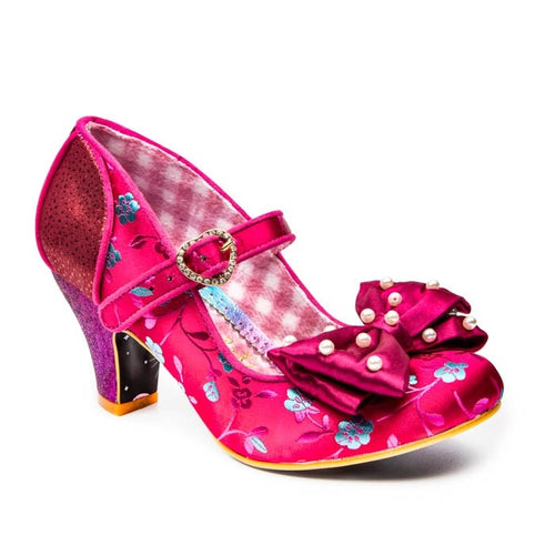 Irregular Choice Snow Drop Shoes - Red/Burgundy