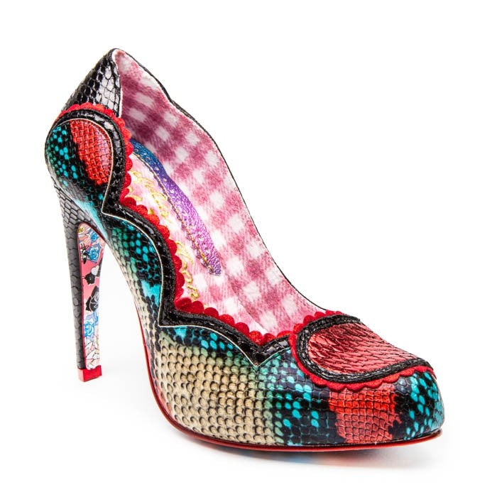 Irregular Choice Dare You Shoes - Black/Red