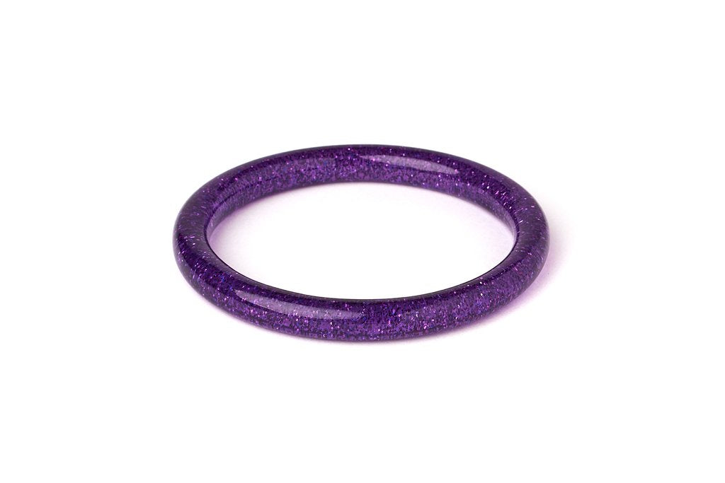 Splendette Narrow Purple Glitter Bangle
