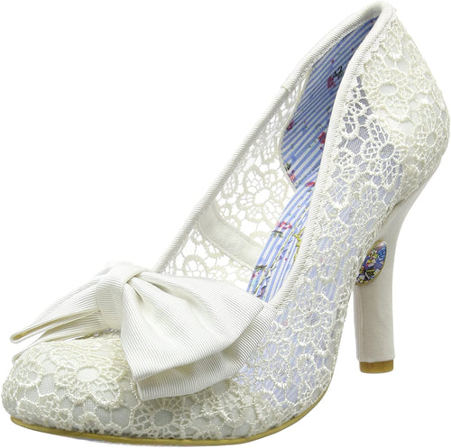 Irregular Choice Mal E Bow Shoes - Cream