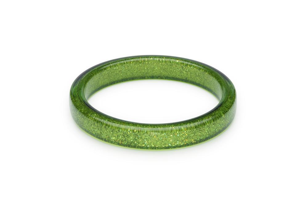 Splendette Leaf Green Glitter Duchess Bangle