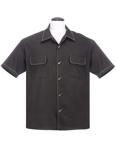 Steady Clothing Musician Mens Button Up in Black