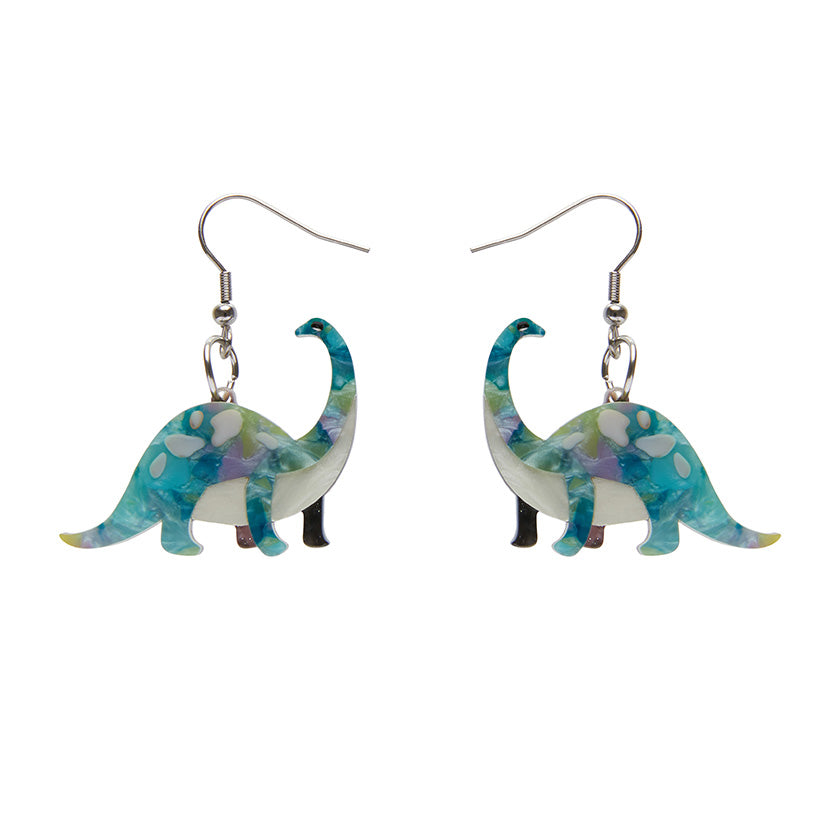 Erstwilder Dinosauria I'll be Brach Earrings - Blue Green