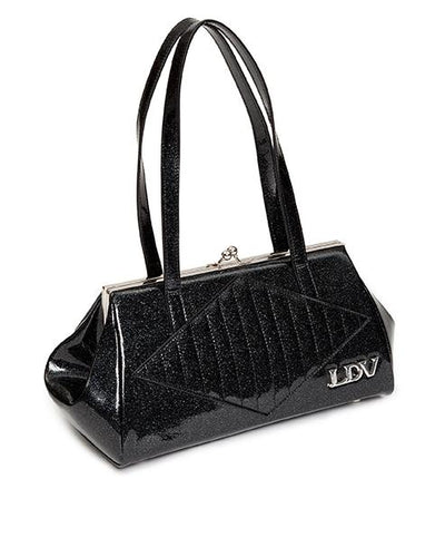 Lux de Ville High Roller Handbag Kiss Lock - Midnight Sparkle