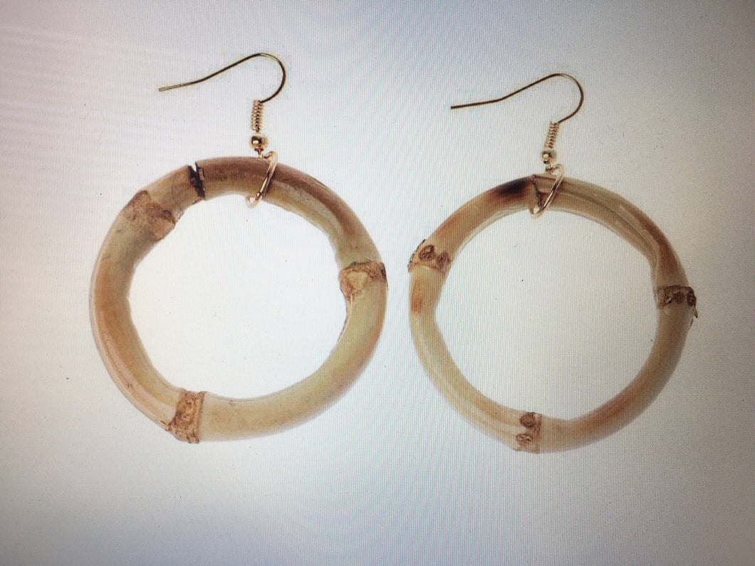 Tiki Bombshell Bamboo Earrings