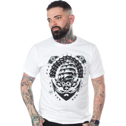 Sourpuss Kustom Kreeps Klipper Ship T-Shirt