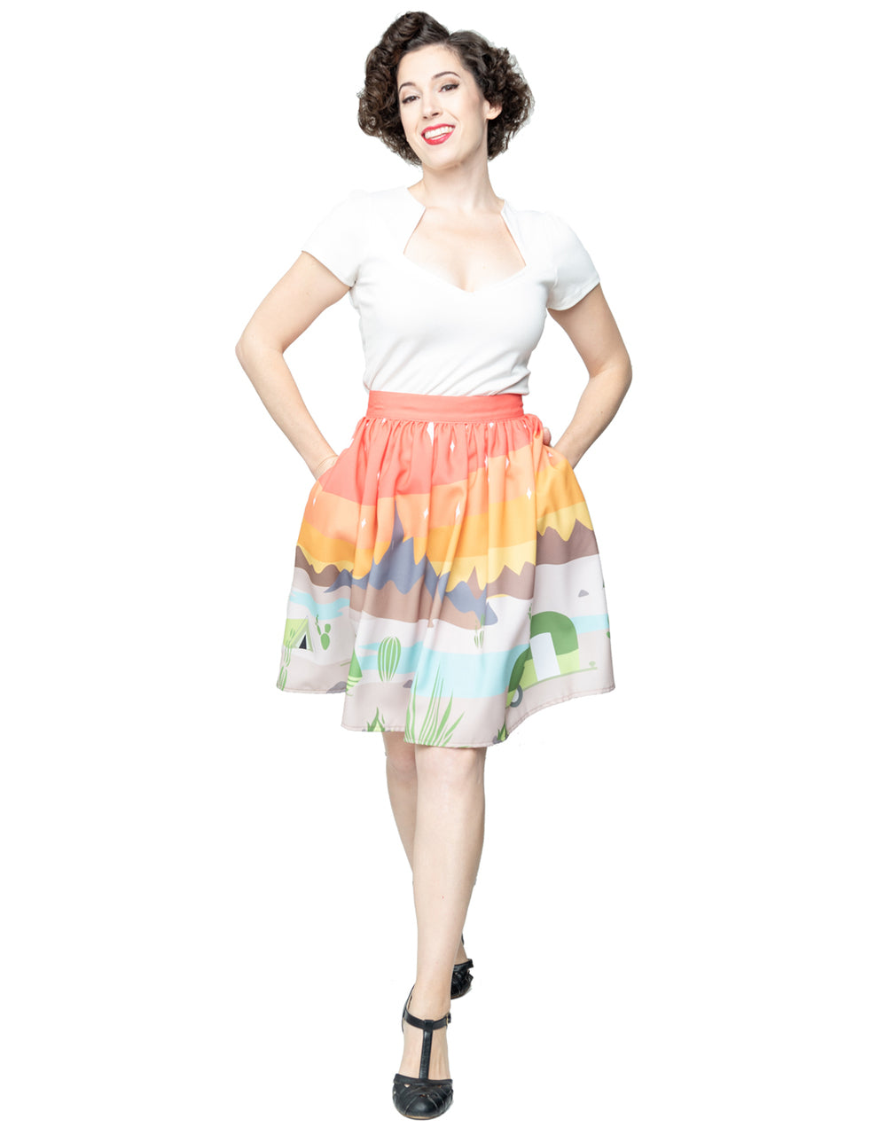 Steady Trail Blazing Gathered Skirt