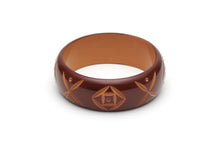 Splendette Wide Walnut Carved Bangle - Duchess