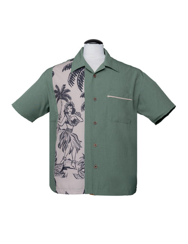 Steady Leilani Bowling Shirt - Green
