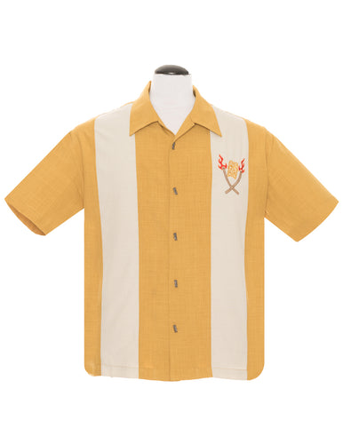 Steady Tropical Itch Bowling Shirt - Mustard