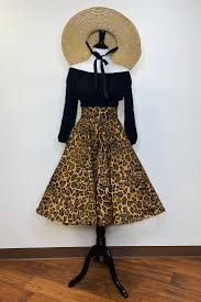 The Oblong Box Shop Leopard Print Circle Skirt