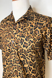 The Oblong Box Shop Leopard Print Button Down Shirt