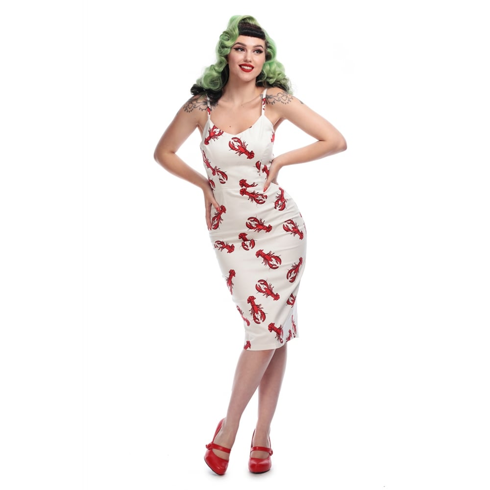 Collectif Mainline Cinthia Rock Lobster Pencil Dress