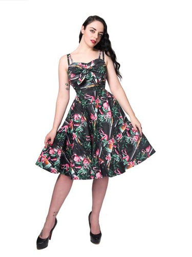 Rebel Love Clothing All Tied Up Flamingo Dress