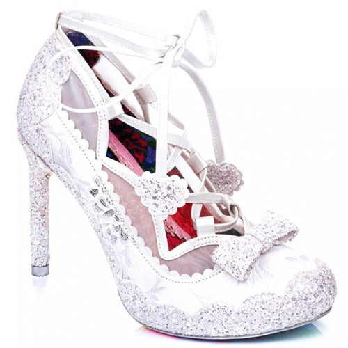 Irregular Choice Velvet Rope Shoes - White