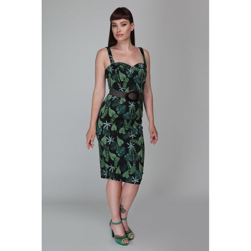 Collectif Mainline Kiana Black Forest Pencil Dress