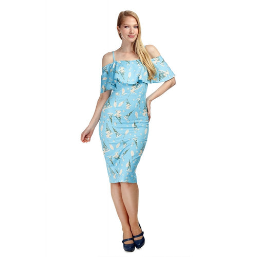 Collectif Mainline Maggy Wild Garden Pencil Dress
