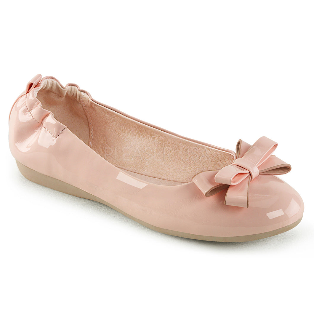 Pleaser Shoes Baby Pink Flats