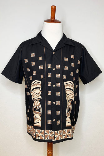 The Oblong Box Shop Sneaky Tiki Rayon Button Down