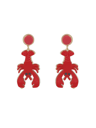 Collectif Upside Down Lobster Earrings