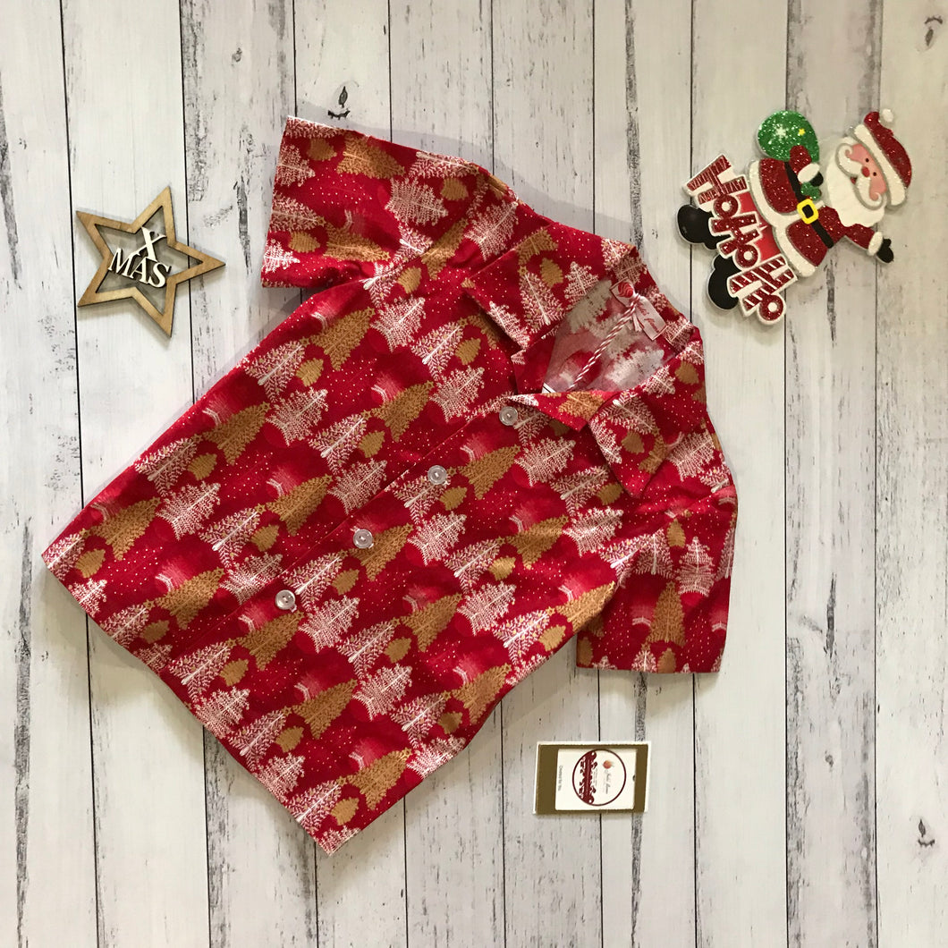 Red Christmas Shirt size 4