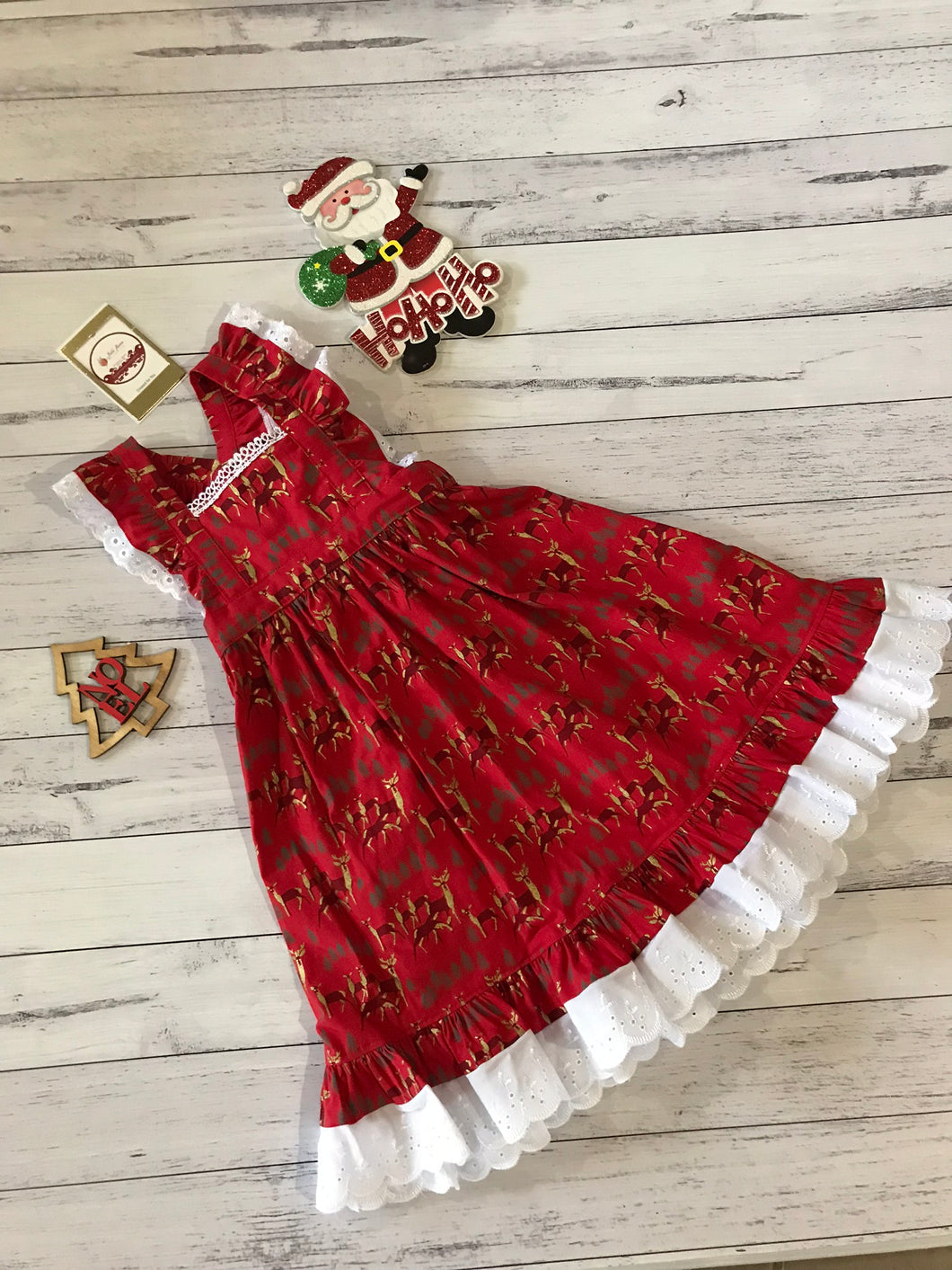 Red Christmas Dress size 3