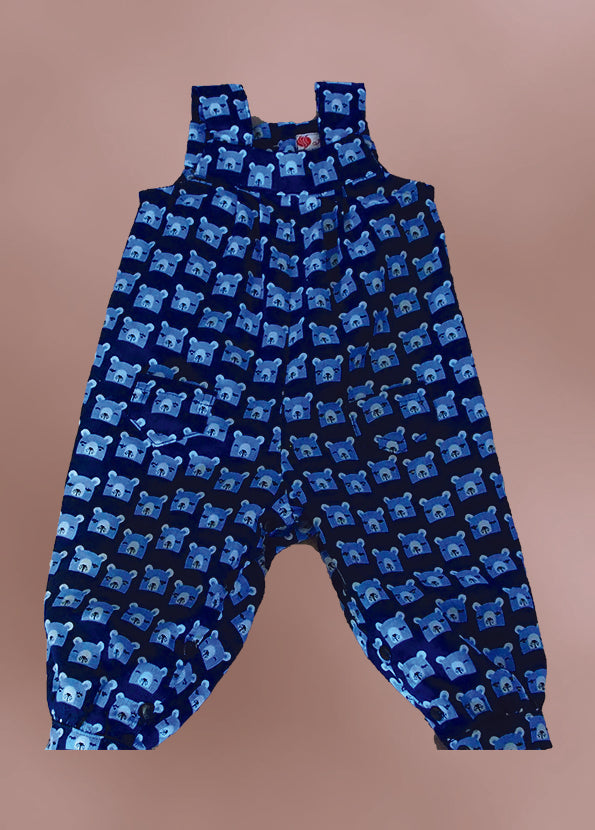 Blue Pinwale Cord Overalls