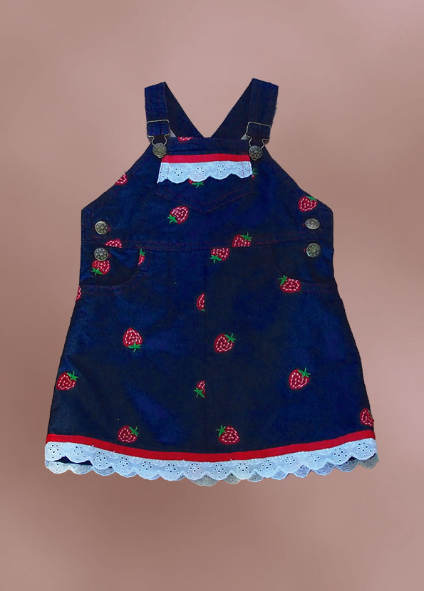 Girls Denim Pinafore