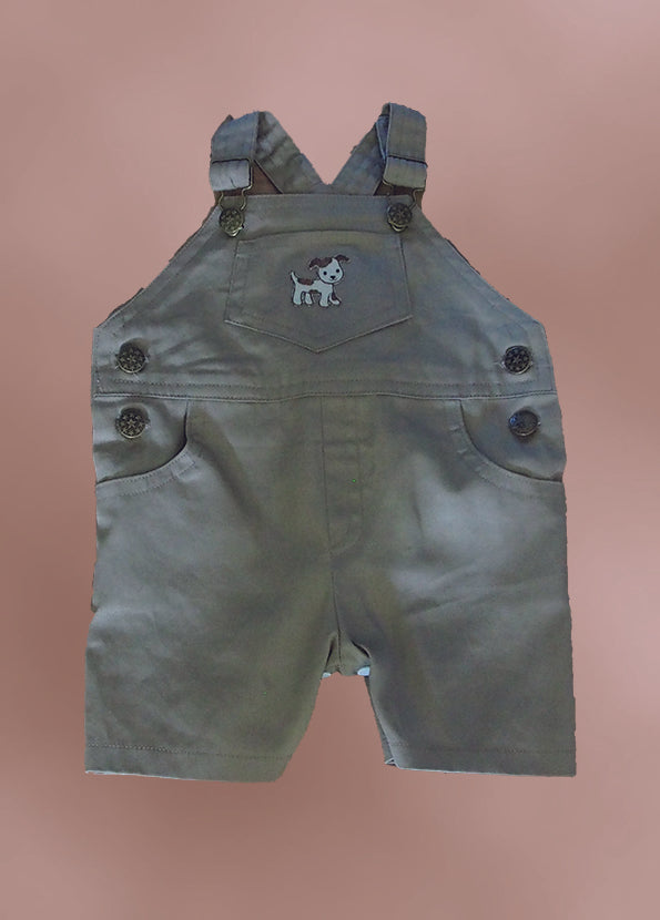 Boy's Tan Short Overalls
