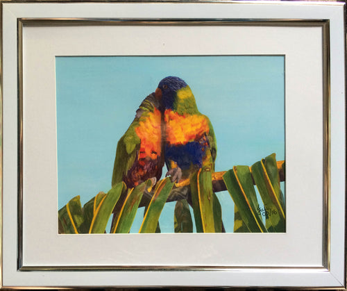 Lorikeets - Original Framed Painting