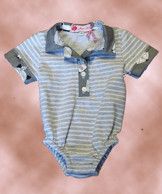 Onsie with Raccoon Trim size 0