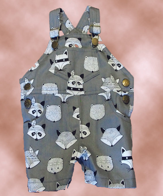 Raccoon Overalls size 00 & size 0