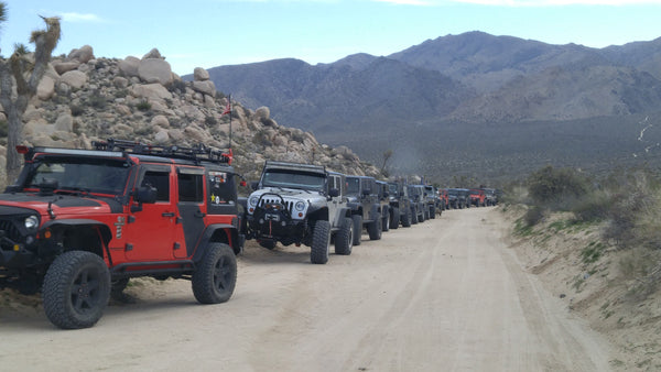 Jeeps Off-Roading in Joshua Tree National Park