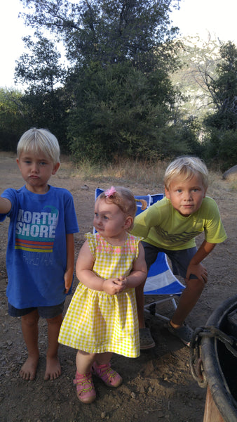 Xaria, Alex and August at Paso Picacho Campground