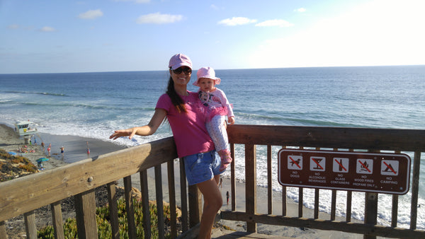 Sophia and Joy Enjoying the View at South Carlsbad State Beach Campground
