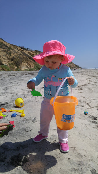 Joy Building Sandcastles on South Carlsbad State Beach