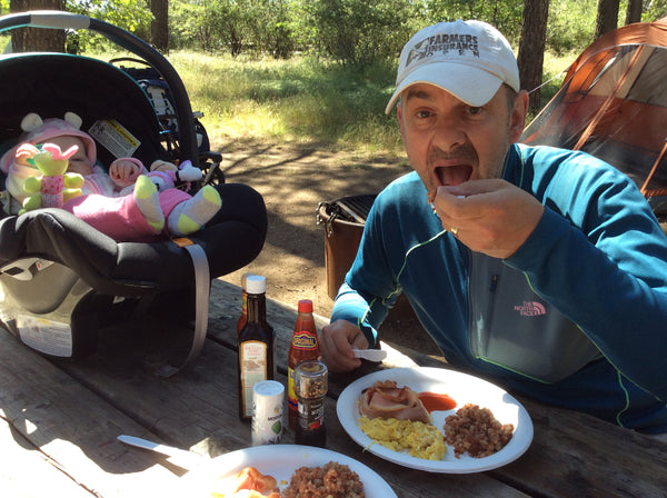 Fried breakfast, a great way to start the day - Cuyamaca Rancho State Park