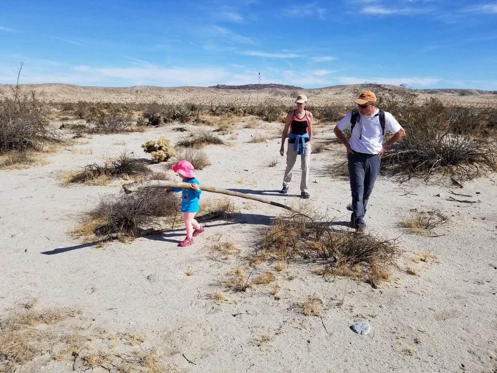 Xaria Determined to Hike to a Ridge in Anza Borrego State Park