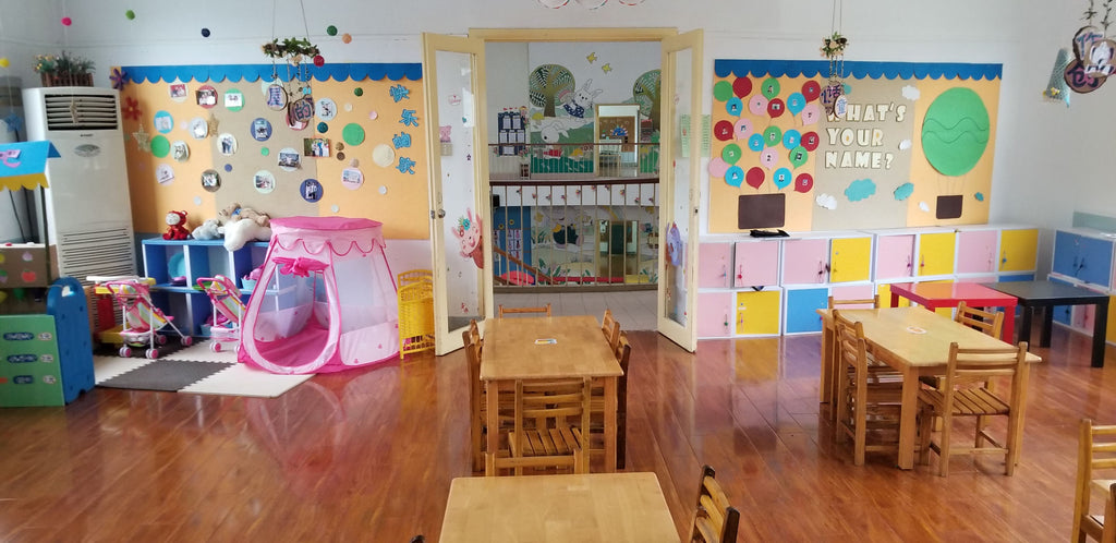 Colorful Classrooms at the Yueya Lake Kindergarten