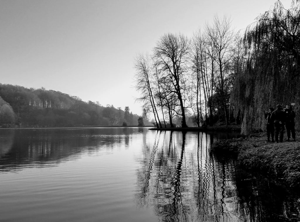 The Lake at Stourhead Gardens in Autumn