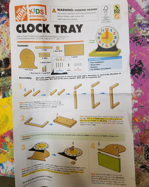 Easy to Follow Instructions at a Home Depot Kids Workshop