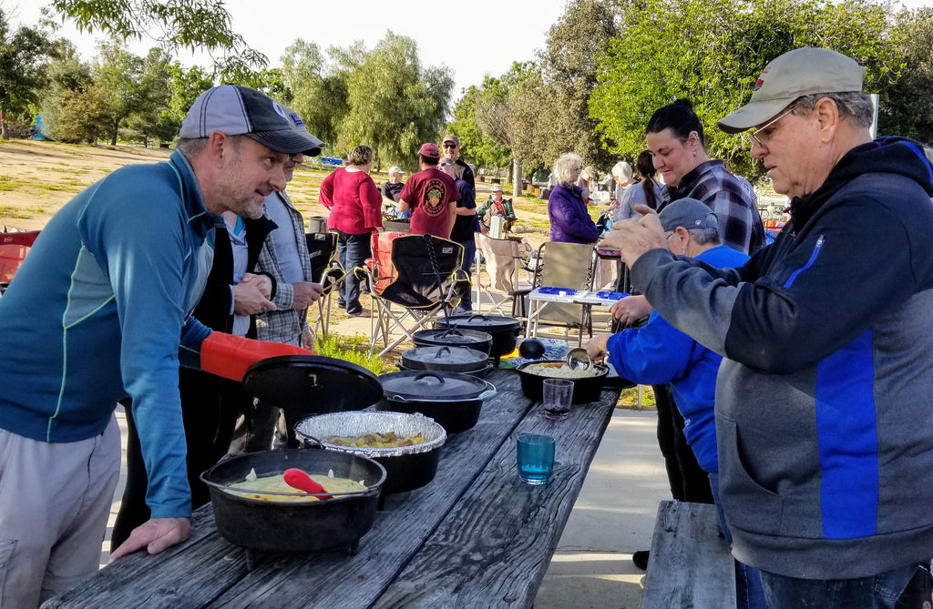 Dutch oven favorites at the annual Lake Perris Teardrop Gathering