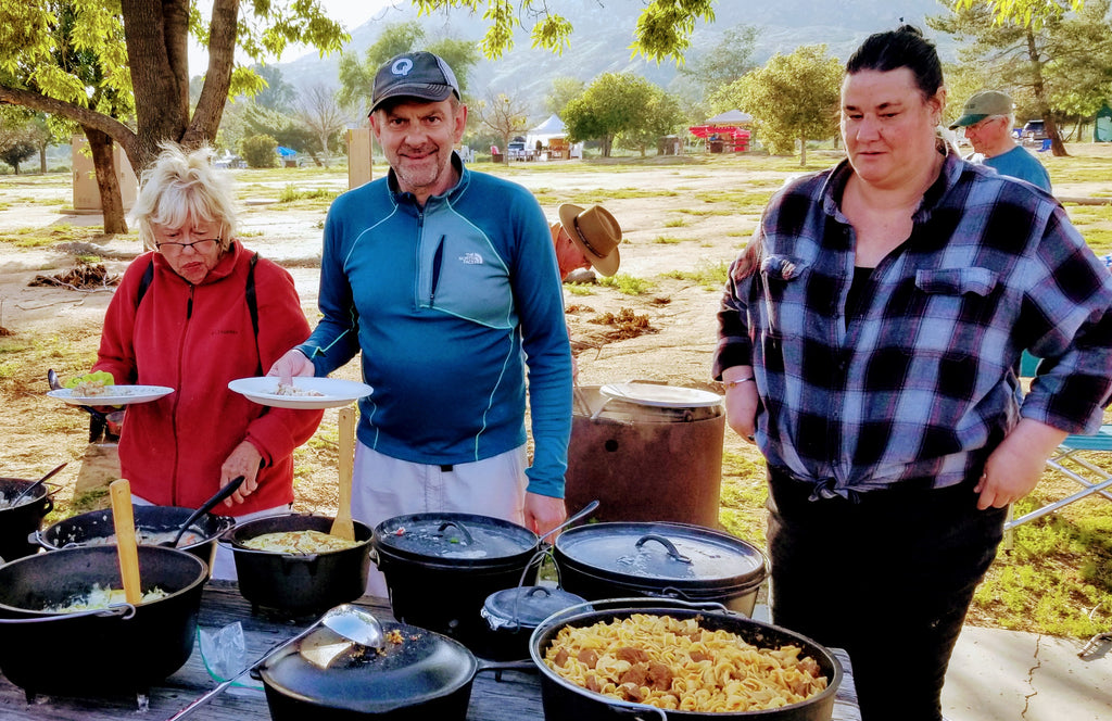 One of our favorite events of the year is the Lake Perris Teardrop Gathering. This year saw just over eighty teardrop campers descend on the park. It was time to meet friends old and new and share wonderful food prepared for both the Dutch Oven Cookout on Friday night and the Pot Luck on Saturday night.