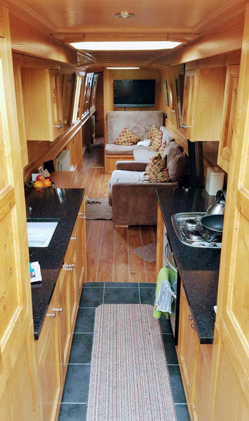 Looking Down the Inside of a Custom Built Narrowboat