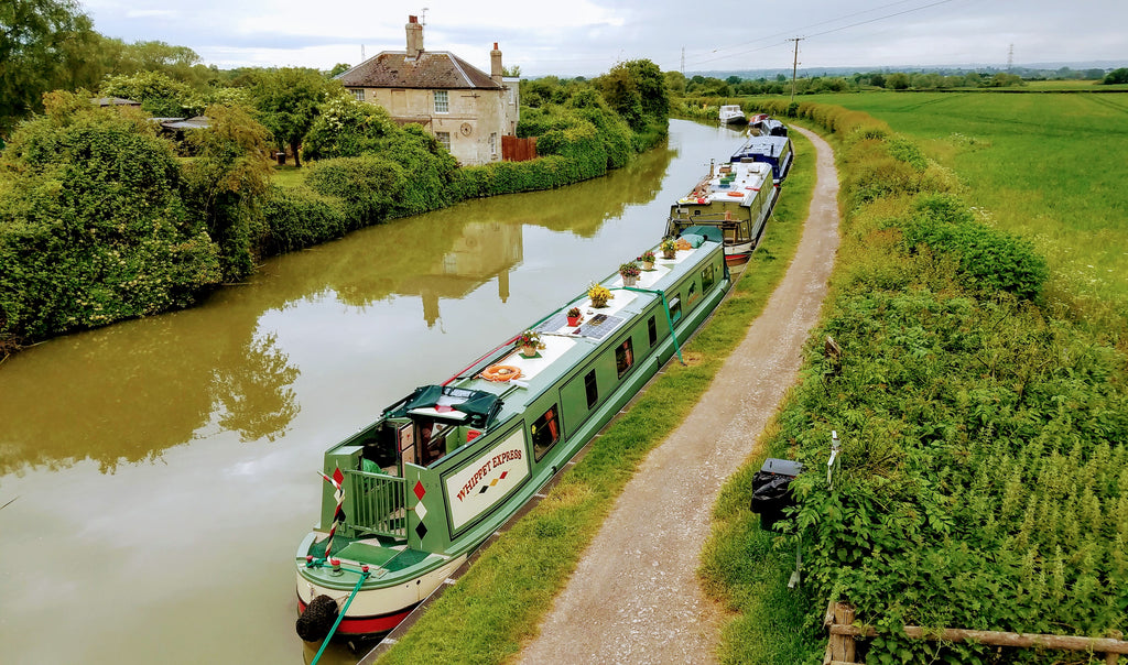 The Kennett & Avon Canal Near Semington in Wiltshire