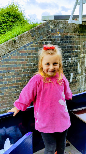 Xaria Enjoying Riding the Locks at Caen Hill Near Devizes