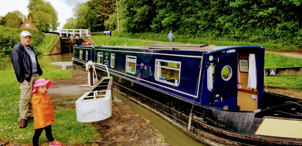 On Vacation on the Kennet and Avon Canal, Passing Through Caen Hill Locks Devizes