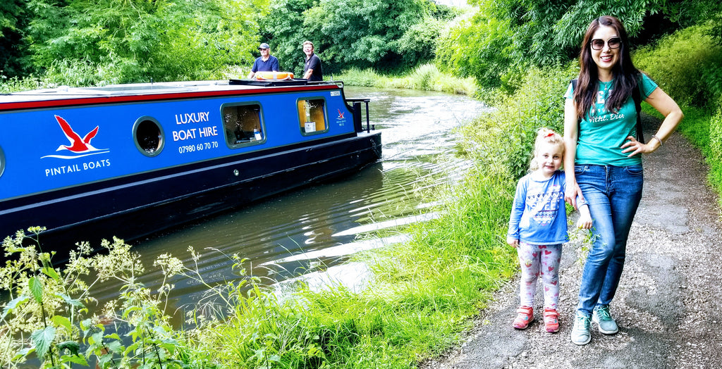 Enjoying a day by an English Canal while living a life redesigned