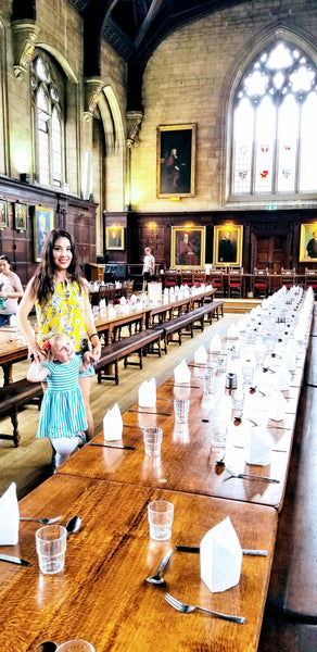 Lunch at an Oxford College - living a life redesigned around extended travel